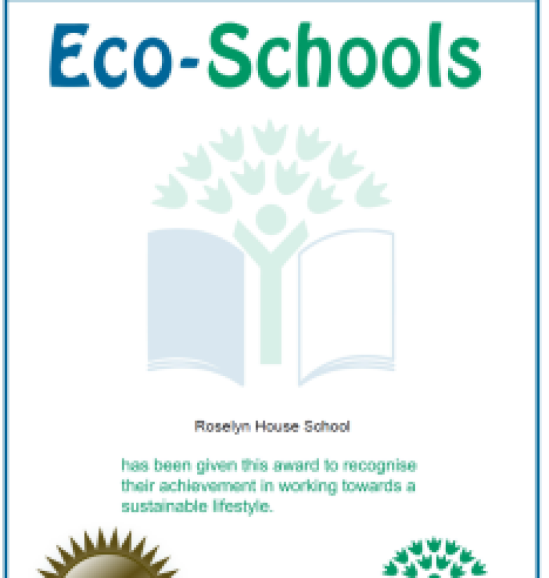Roselyn House School students have signed up for the Eco Schools initiative. For further info please click below.
